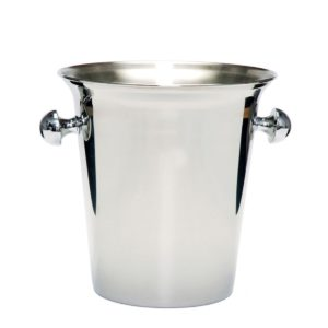 "Fortessa Stainless Steel Wine Bucket with Knob 8.2"" diam, 9"" height"