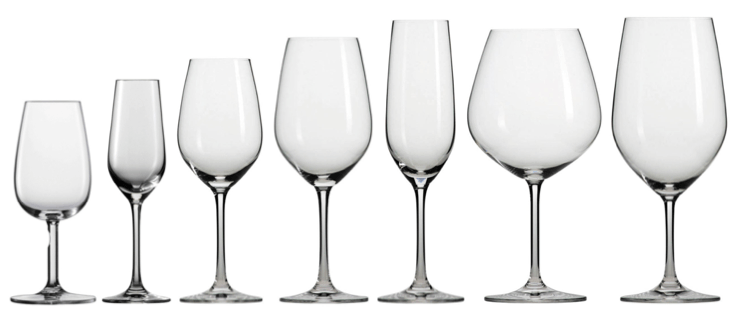 Image result for different types of wine glasses